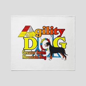 Greater Swiss Agility Throw Blanket