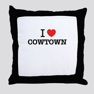I Love COWTOWN Throw Pillow
