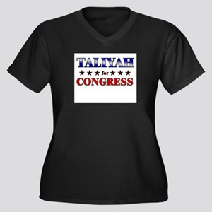 TALIYAH for congress Women's Plus Size V-Neck Dark