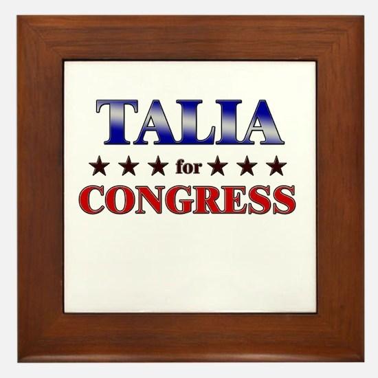 TALIA for congress Framed Tile
