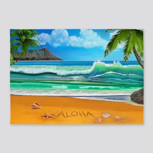 Aloha from Hawaii 5'x7'Area Rug