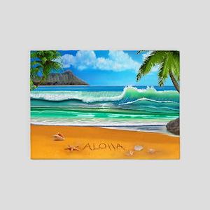 Aloha from Hawaii 5'x7'Area Rug