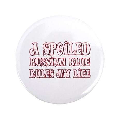 """Spoiled Blue 3.5"""" Button (100 pack)"""