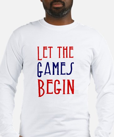 Let the Games Begin (red & blue) Long Sleeve T-Shi