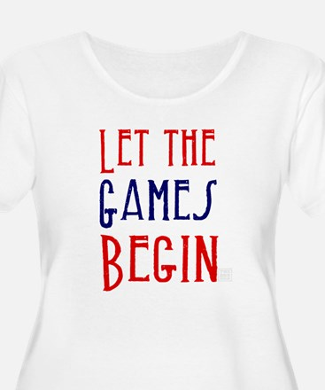 Let the Games Begin (red & blue) Plus Size T-Shirt