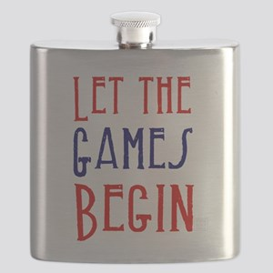 Let the Games Begin (red & blue) Flask