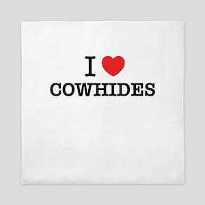 I Love COWHIDES Queen Duvet