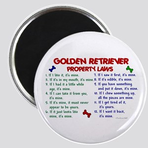 Golden Retriever Property Laws 2 Magnet
