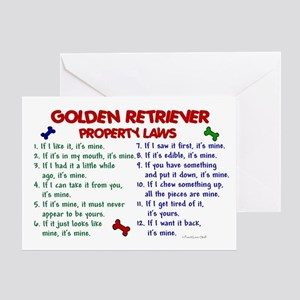 Golden Retriever Property Laws 2 Greeting Card