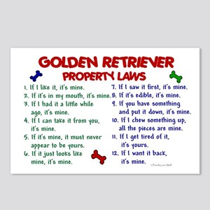 Golden Retriever Property Laws 2 Postcards (Packag
