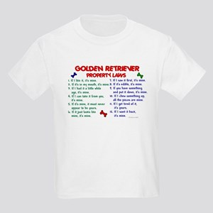 Golden Retriever Property Laws 2 Kids Light T-Shir