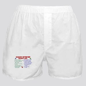 Golden Retriever Property Laws 2 Boxer Shorts