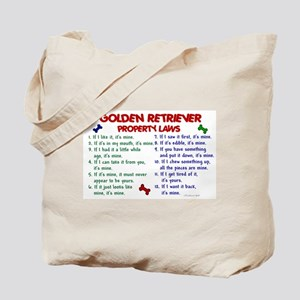 Golden Retriever Property Laws 2 Tote Bag