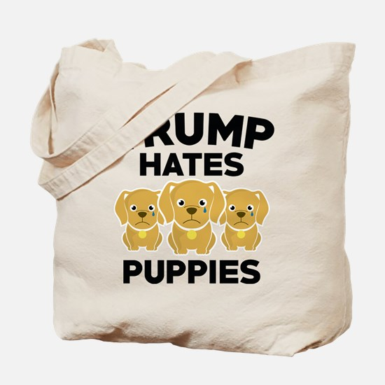 Trump Hates Puppies Tote Bag