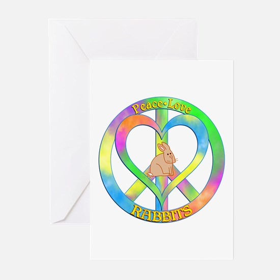 Peace Love Rabbits Greeting Cards (Pk of 10)