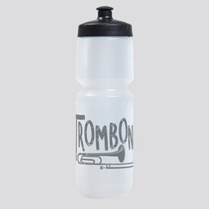Rough Trombone Text Sports Bottle