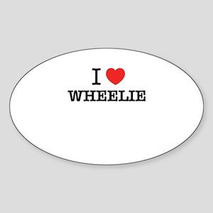 I Love WHEELIE Sticker
