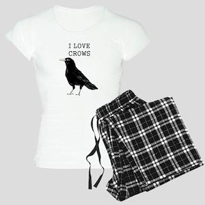 I Love Crows Women's Light Pajamas