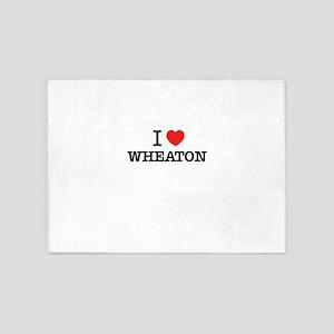 I Love WHEATON 5'x7'Area Rug