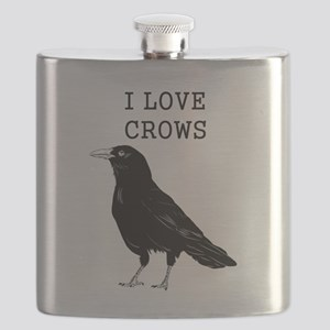 I Love Crows Flask