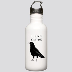 I Love Crows Stainless Water Bottle 1.0L