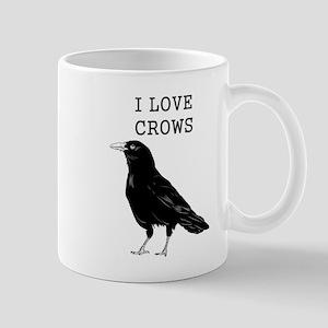 I Love Crows Mugs