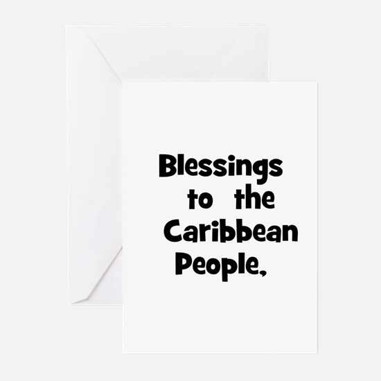 Blessings  to  the  Caribbean Greeting Cards (Pk o