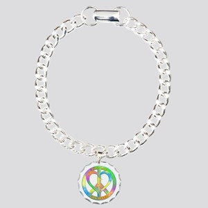 Peace Love Giraffes Charm Bracelet, One Charm
