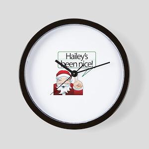 Hailey's Been Nice Wall Clock
