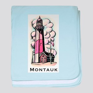 The Montauk Lighthouse baby blanket