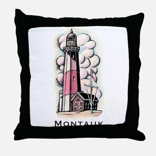 The Montauk Lighthouse Throw Pillow