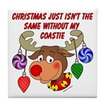 Christmas without my Coastie Tile Coaster
