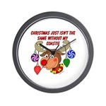 Christmas without my Coastie Wall Clock