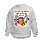 Christmas without my Coastie Kids Sweatshirt