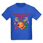 Christmas without my Coastie Kids Dark T-Shirt