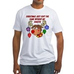 Christmas without my Coastie Fitted T-Shirt