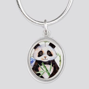 Cute Panda And a Bird Watercolors Necklaces