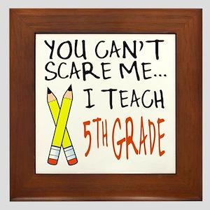 5th Grade Teacher Framed Tile