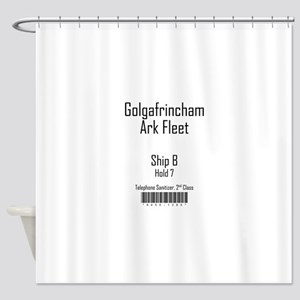 Golgafrincham Ark Fleet Shower Curtain