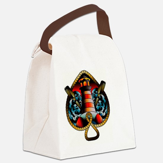 Cool Girly robot Canvas Lunch Bag