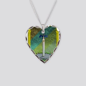 Master Sword Necklace Heart Charm