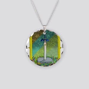 Master Sword Necklace Circle Charm