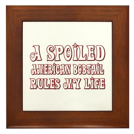 Spoiled Bobtail Framed Tile