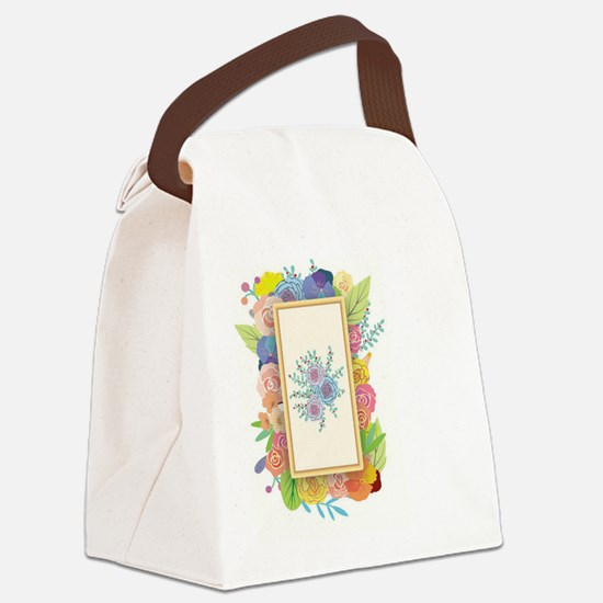 Funny Girly robot Canvas Lunch Bag