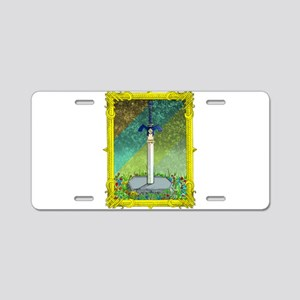 Master Sword Aluminum License Plate