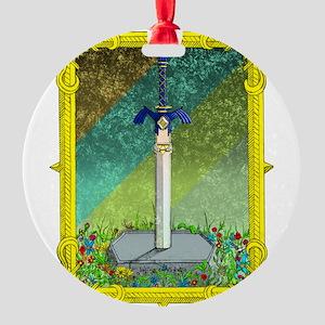 Master Sword Round Ornament