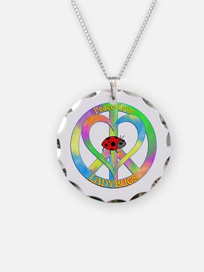 Peace Love Ladybugs Necklace