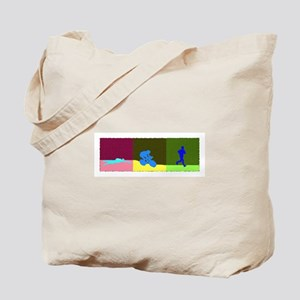 TRIATHLON TRIPTYCH PAINTING DARK Tote Bag