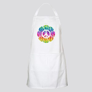 Colorful Peace Flower Apron