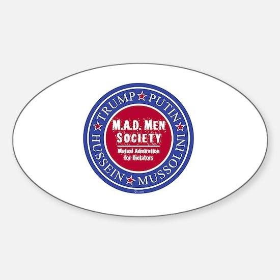 Cute Anti men Sticker (Oval)